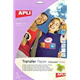 Apli 724049 - Bolsa con 5 hojas de papel de transferencia térmica