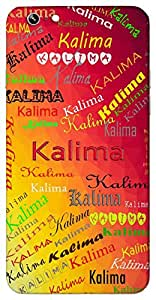 Kalima (Blackish) Name & Sign Printed All over customize & Personalized!! Protective back cover for your Smart Phone : Samsung Galaxy S6 Edge