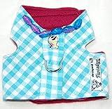 Twinkys Dog Style Hunde Softgeschirr XXS Babyblau Kariert Perlen Bestickt für Kleine Hunde