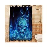 DOLOVE Duschvorhang Badewanne Anti-Schimmel Duschvorhang Badewannenvorhang Antischimmel Badewanne Vorhang Blau 150x180CM