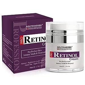 Retinol Moisturiser Anti-Aging Cream,Reduce Black Spots and Blemishes,Moisturising Against Dry Skin & Age - Skin Tightening & Skin Regeneration - 50ml
