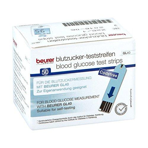 BEURER GL40 Blutzuckerteststreifen 50 St Teststreifen