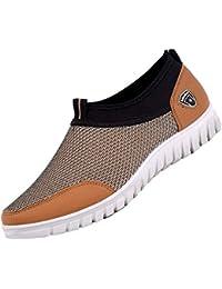 ALIKEEY Zapatos ☀ Casuales De Los Hombres Zapatillas De Malla Transpirable Zapatos Cómodos Mocasines Calzados