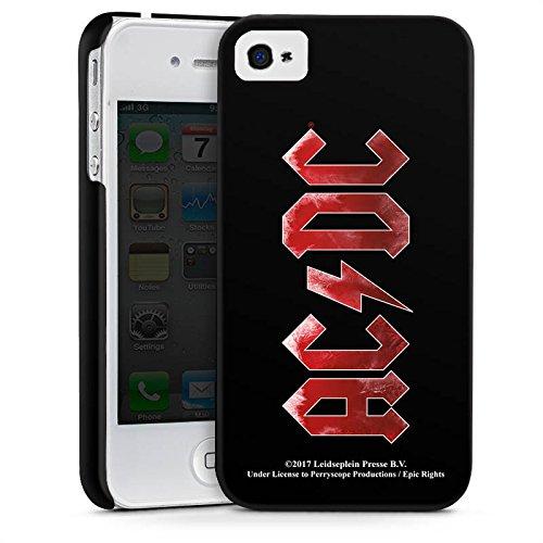 Apple iPhone 5c Silikon Hülle Case Schutzhülle ACDC Logo Offizielles Lizenzprodukt Premium Case glänzend
