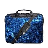 """TaylorHe 15"""" 15,6"""" Borsa per notebook borsa a tracolla per PC portatili Laptop Case con manici e tracolla tasche per accessori universo blu, stelle"""