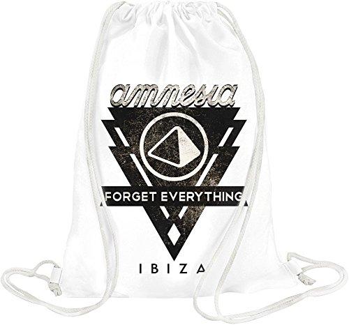 Amnesia - Forget Everything In Ibiza Black Logo Drawstring bag