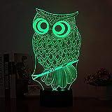 MAXDZ 3D-Nachtlicht, LED Tisch Schreibtisch Illusion Lampe, 7 Farben, die Nachtlichter, Touch Control Zimmer Schlafzimmer dekorative Beleuchtung, Kinder, Jugendliche