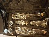ammoon ABS Clarinette Bb Cupronickel Plaqué Nickel 17 Touches avec Cork Graisse NETTOYAGE Chiffon Gants Tournevis Instrument à Vent pour élève Débutant