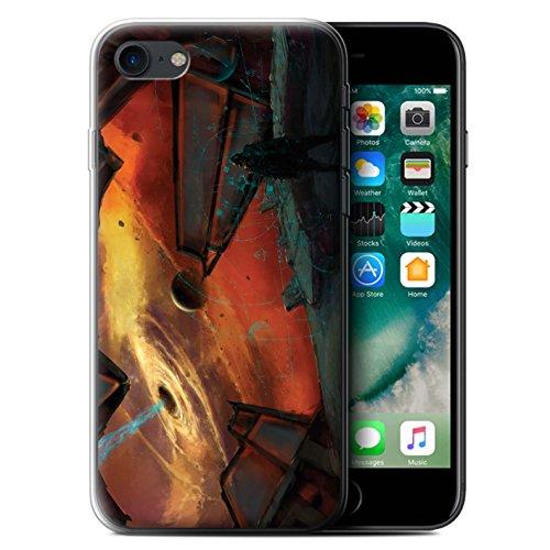 Offiziell Chris Cold Hülle / Gel TPU Case für Apple iPhone 7 / Pulsar/Neutron Stern Muster / Galaktische Welt Kollektion Schwarzes Loch