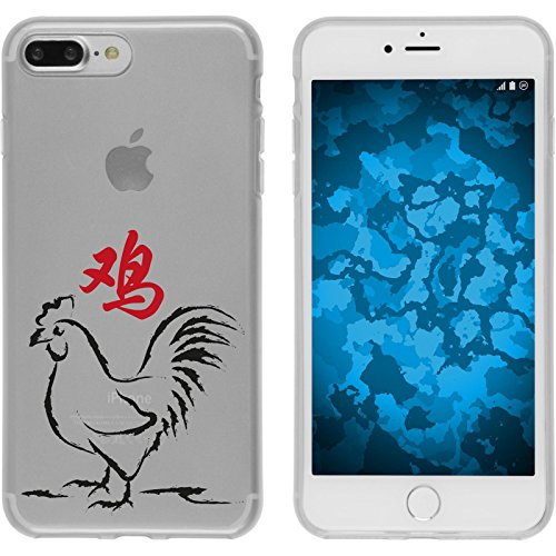 PhoneNatic Case für Apple iPhone 7 Plus Silikon-Hülle Tierkreis Chinesisch M9 Case iPhone 7 Plus Tasche + 2 Schutzfolien Motiv 10