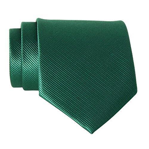 Corbata de Poliéster verde 8 cm