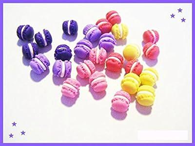 25 macarons miniatures en fimo pâte polymère pour fiole