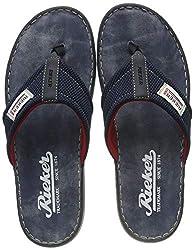 Rieker Herren 21089-14 Zehentrenner, Blau (Navy/Ozean-Schwarz 14), 43 EU