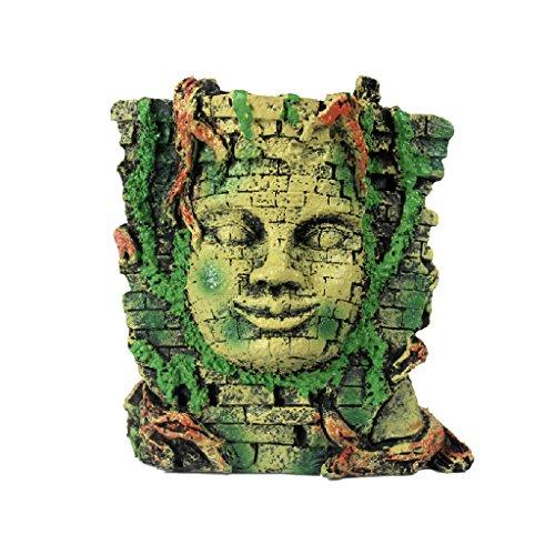 Modelo de Máscara Maya Simulación Jardinería Terrario Reptiles Resina Decoración