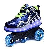 Aizeroth-UK Unisex Bambino LED Scarpe con Rotelle Removibile Inline Skate Formatori Sportive Ginnastica Lampeggiante Outdoor Multisport Running Sneaker per Ragazzi e Ragazze Compleanno Natale Regalo