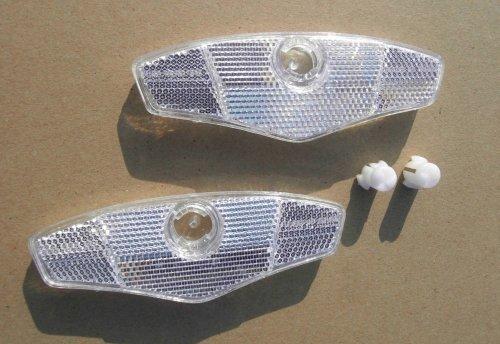 Speichenreflektoren weiß 2 Stück