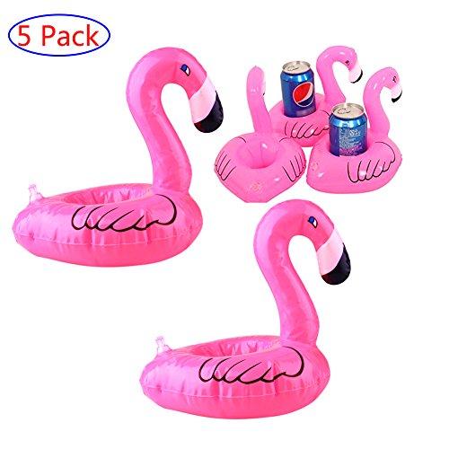 Flamingo Aufblasbare Cup Holder Mini Pool Trinkhalter, Portable Drink Cup Schwimmer sowie Kinder Pool Spielzeug und Dekorationen, 5er Pack (Portable Whirlpool)