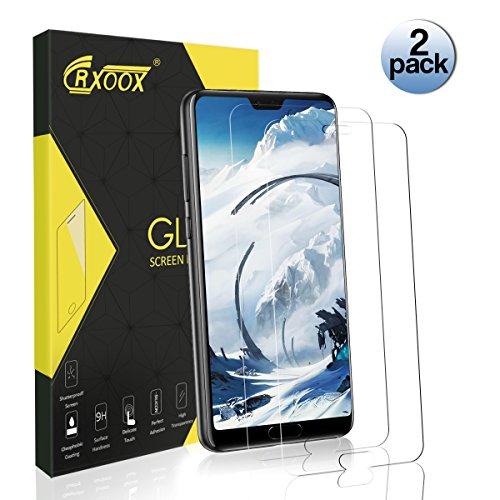 CRXOOX Protector Pantalla para Huawei P20 Pro, 2-Unidades, 9H Dureza, Alta Definicion, Anti-petróleo, Anti-Burbuja, 0.33mm, 2.5D Round Edge
