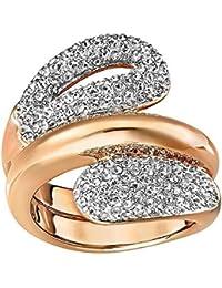 Las mujeres anillo de todos Oro Rosa Crystal de Swarovski – blanco – 522155