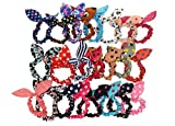 Ts 20 Pcs Cute Girls Rabbit Ear Hair Tie...