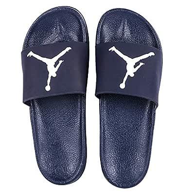 DES TONGS Men's Jordan Flip Flop (5, Blue-White)