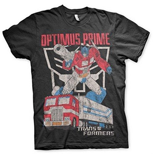 Transformers - T-Shirt - Manches Courtes - Homme -  noir - 10 ans