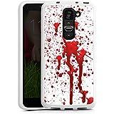 LG G2 mini Silikon Hülle Case Schutzhülle Blut Halloween Gothic