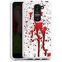 LG G2 mini Silikon Hülle Case Schutzhülle Blood Blut Halloween