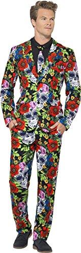 der Toten Anzug Kostüm, Jacke, Krawatte und Hose, Größe: M, 41589 (Herren Tag Der Toten Halloween-kostüm)
