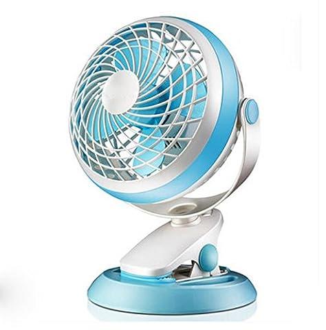 Ventilateur USB Clip Long Bleu Ventilateur sur pied Silencieux Mini Petit Ventilateur de Table Flexible Housse 360° pour voiture Ordinateur Ventilateur de Table LE Student Heim Fan de bureau maison bureau avec câble