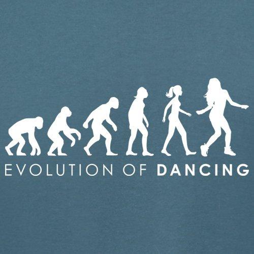Evolution of Woman - Tanzen - Damen T-Shirt - 14 Farben Indigoblau