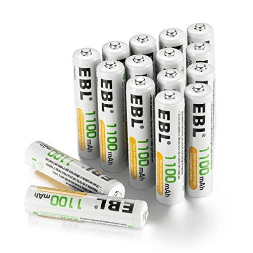 EBL 1100mAh AAA Pilas Recargables Ni-MH para los Equipos Domésticos (16 Unidades)