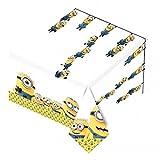 Minions - Amscan - Copri tavolo in plastica (1,2m x 1,8m) (Giallo/Blu/Bianco)