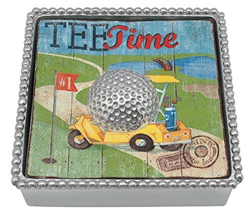 Mariposa Golf Ball Beaded Napkin Box by Mariposa Napkin Box Mariposa Golf