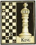 4 Klassisches Schachfiguren Art Pics in King Size Königin Bishop Knight mit Motiv Game Raumthermostat 8 x 10