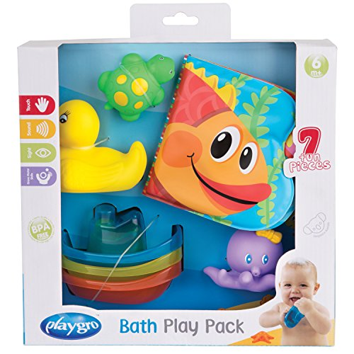 Playgro - Juego de juguetes para baño 7 unidades