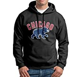 CJUNP Men's Chicago Cubs 2016 World Series Champions Workout Hooded Sweatshirt