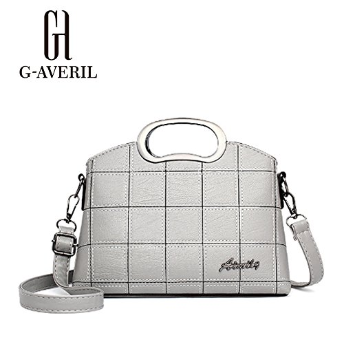 G-AVERIL, Borsa a mano donna Grigio Grey Grey