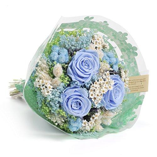Ramo romántico -Sanremo secas flores de la Riviera con tonos Azules.