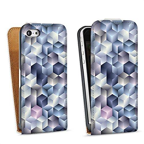 Apple iPhone 4 Housse Étui Silicone Coque Protection 3D Effet d'optique Pastel Sac Downflip blanc