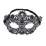 EQLEF® Luxury venezianischen Stil Metal Ball Maske weiße Rhinestone für Masquerade Halloween Cosplay Partei-