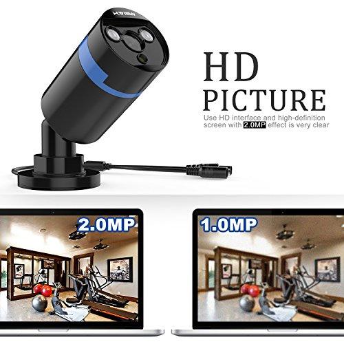 HView-Kit-de-4-Kit-Cmaras-de-Vigilancia-Seguridad-1920-x-1080P-camara-domo-CCTV-DVR-P2P-4CH-AHD-y-4-Camaras-Impermeable20mp-kit-videovigilancia-IR-Cut-HDMI-2-Array-Leds-1TB-Disco-duro-de-vigilancia