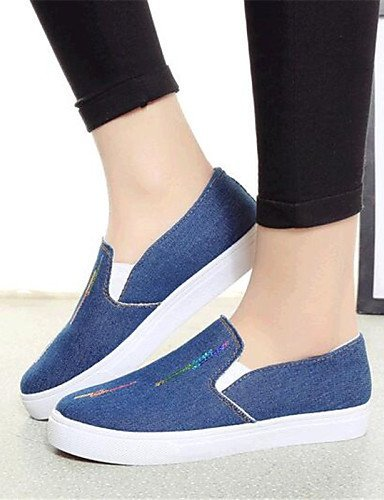 ShangYi gyht Scarpe Donna-Mocassini-Tempo libero / Casual-Comoda-Piatto-Denim-Blu Light Blue