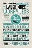 Be Awesome Popartuk– MaxiPóster de motivación con Frases alentadoras - Dimensiones 61x 91,5cm