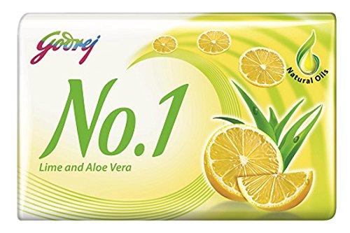 Godrej No.1 Lime and Aloe Vera Soap, 100g (Buy 3 Get 2 Free)