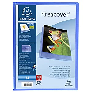 Exacompta Kreacover Semi-Rigid PP Display Book, A4, 20 Pockets - Blue