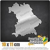 KIWISTAR Aufkleber - Bayern Deutschland Silhouette - Autoaufkleber Sticker Bomb Decals Tuning Bekleben