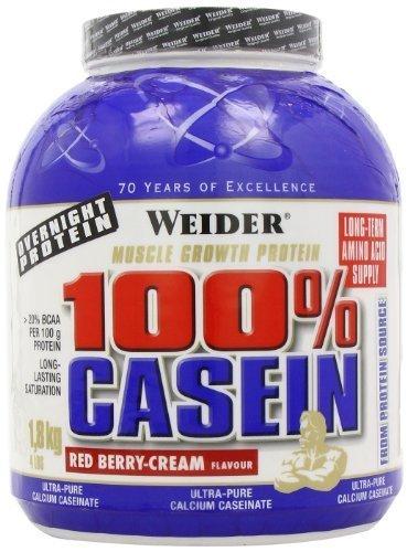 Weider Nutrition 100 Percent Casein Red Berry Cream Powder 1800g by Weider Nutrition