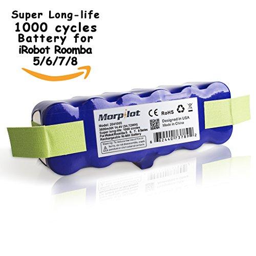 morpilot-144V-3800mAh-extendido-Crculos-1000-Vida-super-largo-de-la-batera-para-la-serie-iRobot-Roomba-500-505-510-520-521-530-531-532-533-534-535-536-540-545-550-552-555-560-561-562-563-564-PET-564-5