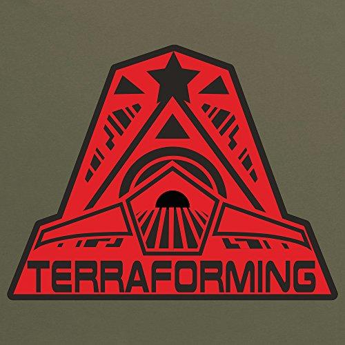 Official Alien: Covenant Crew Terraforming Logo T-Shirt, Herren Olivgrn